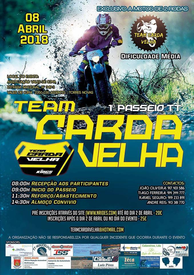 1ª Passeio TT - Team Carda Velha - Cartaz